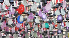 Amulets in Taoist temples. Zhangjiajie. China. - stock footage