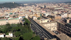 View of Apostolic palace, Vatican Museums & Vatican Gardens Stock Footage