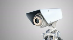 Automated surveillance camera - stock footage