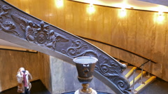 Spiral Staircase. Vatican  famous double spiral staircase Stock Footage