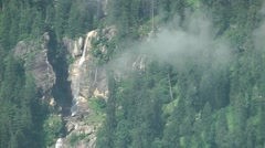 Waterfall as seen from Manali,Manali,India Stock Footage