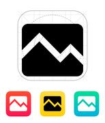 Line chart down icon Stock Illustration