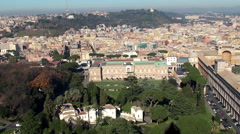 View of  Vatican Museums & Vatican Gardens Stock Footage