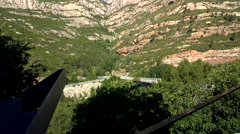 1m Start of Aeri de Montserrat (Cable Car) Silent Stock Footage