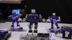 A trio of robots Stock Footage