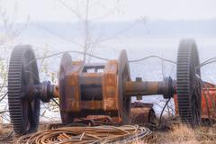 Metal junk - stock photo