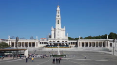 Sanctuary of Fatima, Portugal. Basilica of Our Lady of the Rosary Stock Footage