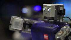 Robot closeup Stock Footage