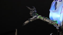 robot translator - stock footage