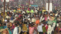 Crowds at Kumbh Mela 2013,Allahabad,India Stock Footage