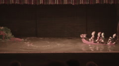Vietnamese water puppetry show Stock Footage