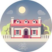 Vector flat house icon Stock Illustration