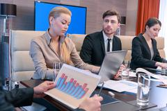 Review of the business analytics - stock photo