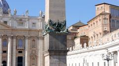 Egyptian obelisk of Caligula. Vatican City, Rome, Italy. 1280x720 - stock footage