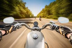 Biker First-person view Stock Photos