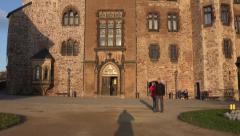 4k Wernigerode sunny medieval castle tilt up Harz Stock Footage