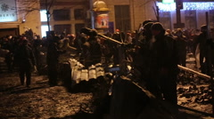 UKRAINE, KIEV, JANUARY 19, 2014 revolution Stock Footage