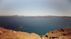 View of the Caldera from Fira. Santorini island located in the Mediterranean Sea - stock footage