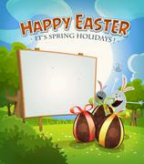 Spring Time And Easter Holidays - stock illustration