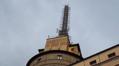 Radio masts of  Vatican Radio Stock Footage