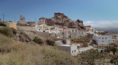 Residential buildings on the island of Santorini Stock Footage