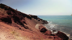 Red beach Stock Footage
