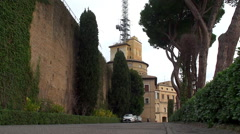 Administration building of  Vatican Radio Stock Footage