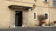 Entrance to the Administration building of  Vatican Radio. Stock Footage