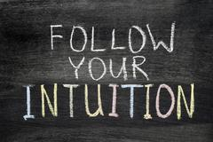 follow your intuition - stock photo