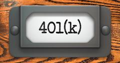 Inscription 401K on Label Holder - stock illustration
