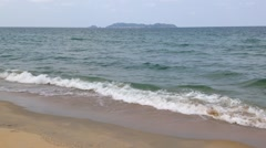 Beach and waves at Terengganu, Malaysia, loop Stock Footage