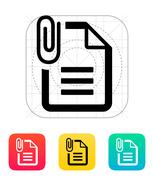 Attached Text file icon - stock illustration