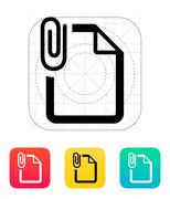 Stock Illustration of Attached file icon