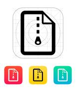 Archive file icon Stock Illustration