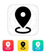 Map area icon Stock Illustration