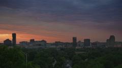 Dawn Skyline Over Trees Stock Footage