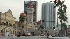 Merdeka, Sultan Abdul Samad building,Kuala Lumpur,Malaysia Stock Footage