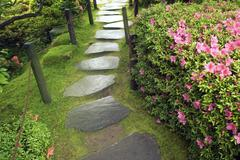 Zen pathway Stock Photos