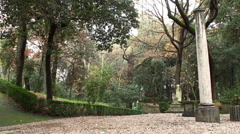 Alley in the Vatican Gardens Stock Footage