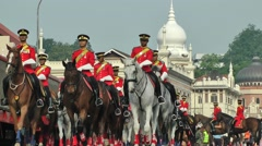 Malaysia Independence Day Parade on horses,Kuala Lumpur,Malaysia - stock footage