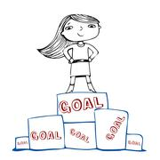 Achieve the goal, vector illustration Stock Illustration
