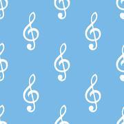 Treble clef seamless pattern Stock Illustration