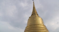 Stupa at the Golden Mount in Bangkok, Thailand Stock Footage