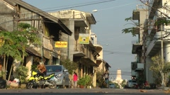 Old town Steet,Savannakhet,Laos Stock Footage
