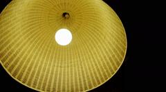 Yellow basket lampshade Stock Footage