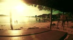 Rustic beach scene in 4K Stock Footage