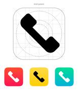Telephone receiver icon. Answer the call - stock illustration