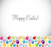 Stock Illustration of Beautiful Easter Egg Background Vector Illustration