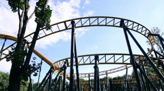 The amusement park roller coaster Arkistovideo