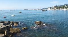 Rapallo (Genoa, Italy), the coast Stock Photos